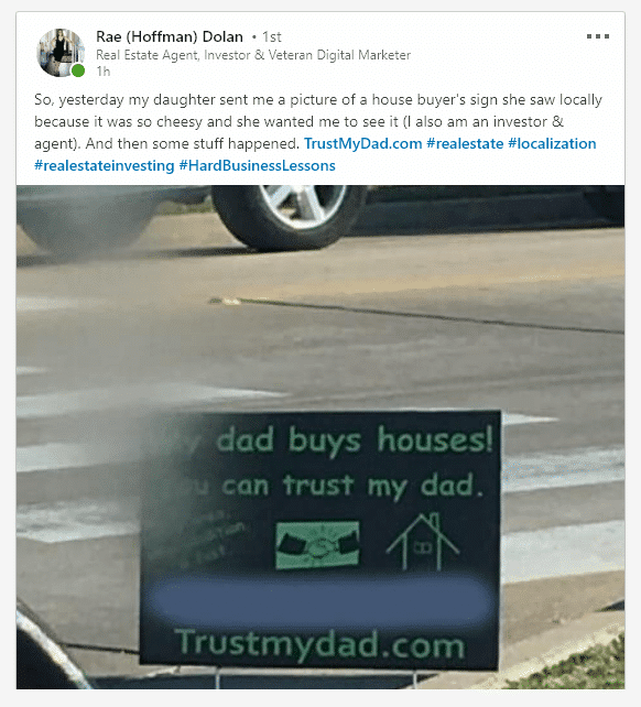 trustmydad.com real estate sign katy, tx