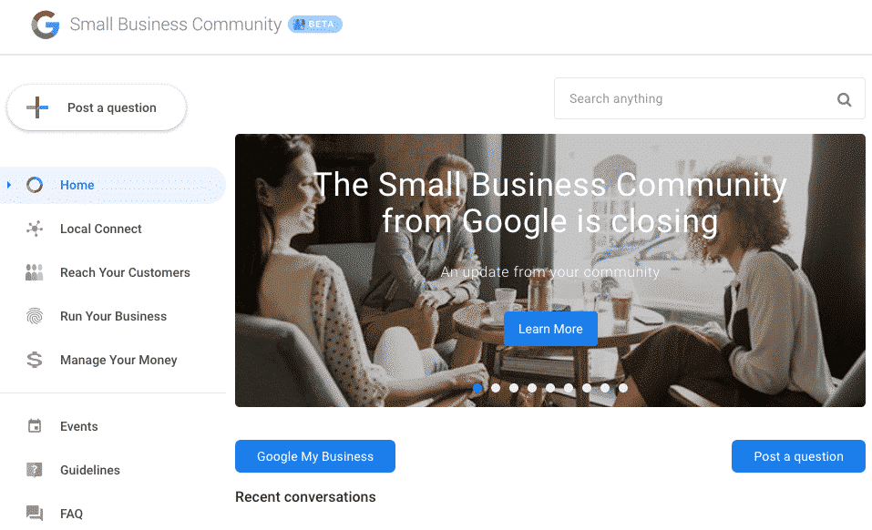Google Is Shuttering the Small Business Community from Google