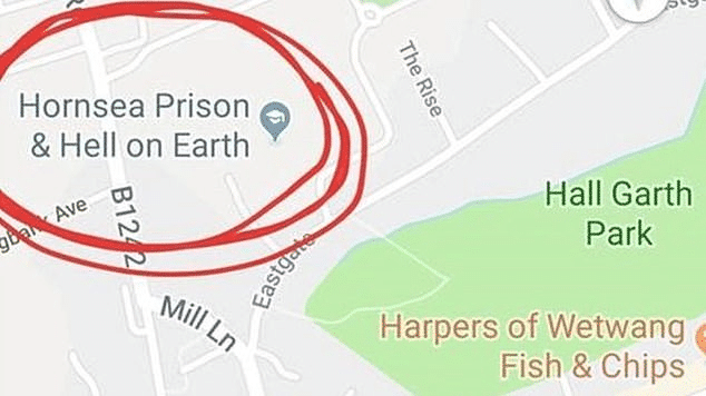 "A Student in the UK Renamed His School to ""Prison & Hell on Earth"" on Google Maps"