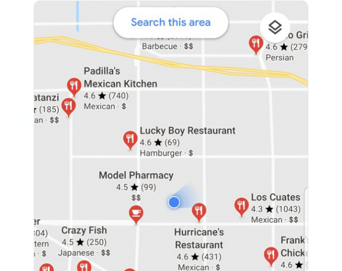 Google Maps Testing Display of Review Stars on the Map