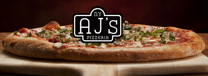 aj's new york pizzeria in kansas website screenshot