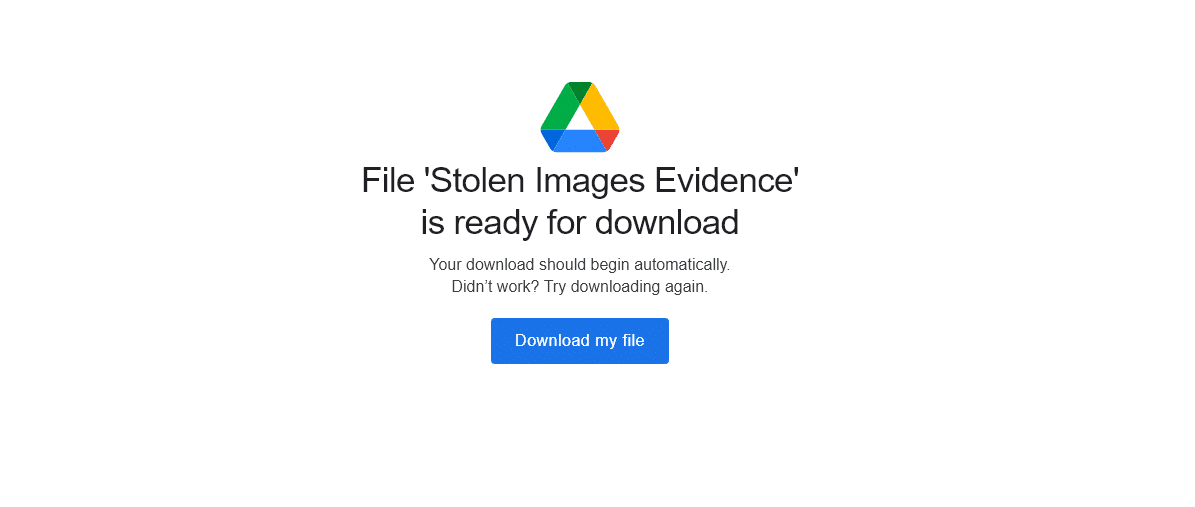 google drive downloading malware confirmation